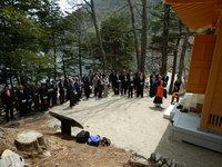 中禅寺湖畔の霊場のひとつ『千手堂』の落慶法要に遭遇!