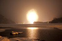 奥日光湯元温泉雪まつり 湯の湖湖畔花火大会