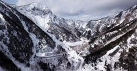 雪景色の奥日光空撮動画をアップしました。