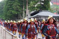 日光東照宮では春季例大祭 百物揃千人武者行列が行われました。
