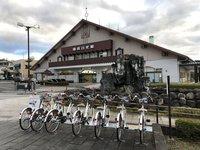 東武日光駅前にて電動アシスト自転車のレンタル開始