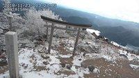 男体山で初冠雪!